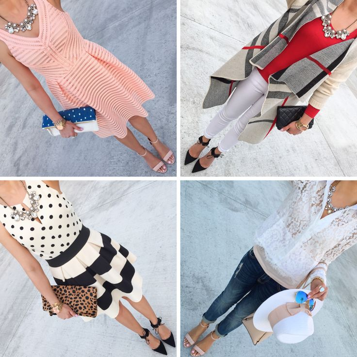 Four casual and classy outfits to wear for Spring! Super easy and affordable looks! // http://www.stylishpetite.com/2015/04/daily-outfits-recent-purchases-and-bow.html
