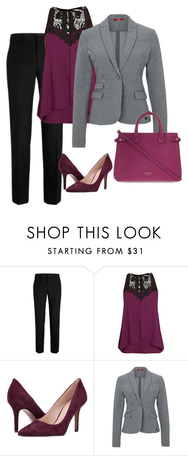 """""""Untitled 15"""" by havlova-blanka on Polyvore featuring City Chic, Nine West and Burberry"""