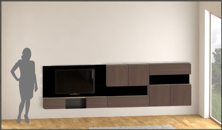 Magnetic modular TV wall editable example