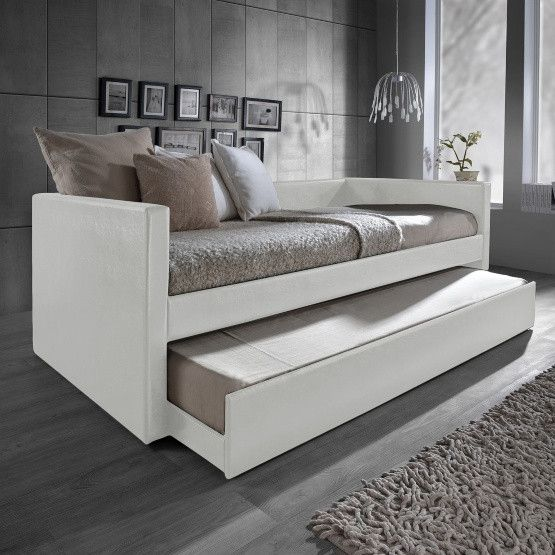Baxton Studio Risom Upholstered Twin Daybed with Trundle