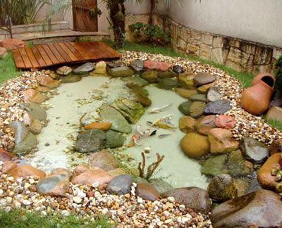 Idéia para lago no paisagismo do jardim