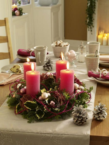 DIY christmas candle centerpieces – 40 enchanting ideas for your table