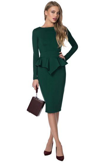 Классическое платье с асимметричной баской OLGA SKAZKINA / 2000000152905