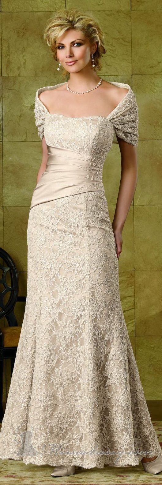 Jordan collection high couture ~ Would be lovely for the more mature bride...love love love the neckline!