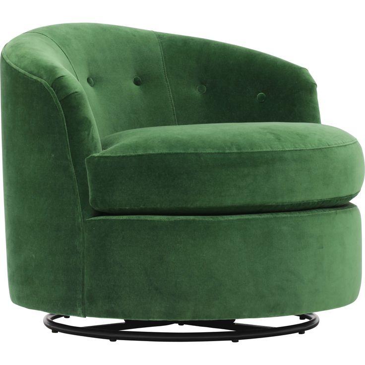 Penny Swivel Chair, Vance Emerald