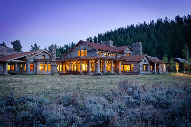 Wyoming Ranch Pearson Design Group Modern Rustic Homes