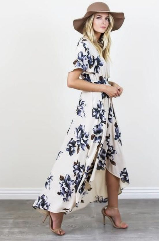 ~~~~~~~~Try stitch fix today! The latest fashions picked by your own personal stylist delivered right to your door. Obsessed with this!  Such a beautiful print on this high low wrap dress.  Stitch fix spring summer 2017 trends #affiliatelink