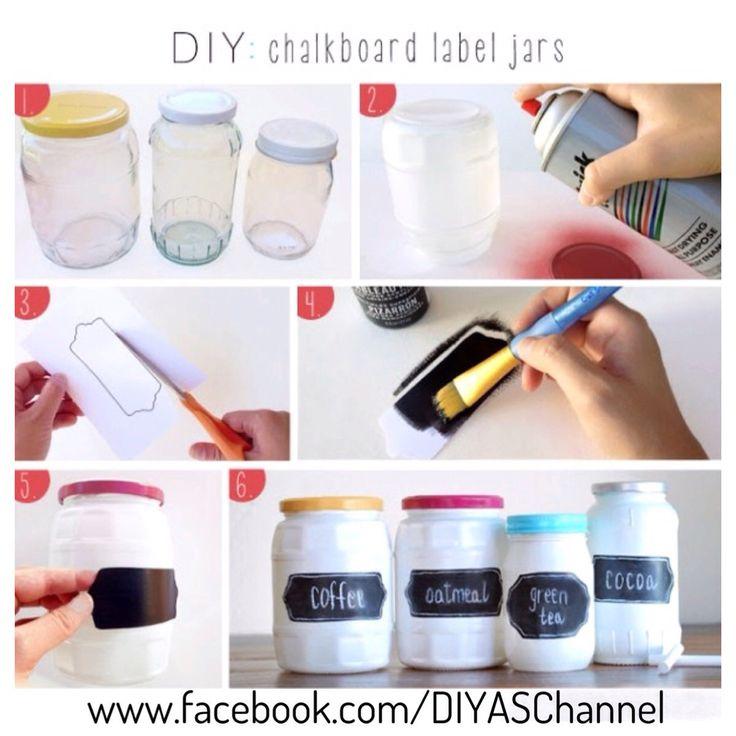 #diy chalkboard jars to match your modern kitchen!