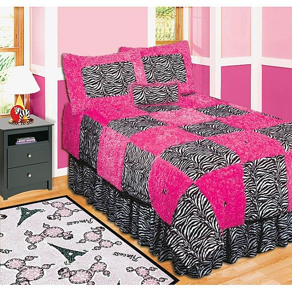Pink And Black Zebra Print Bedding Pink And Black Zebra Print Bedding