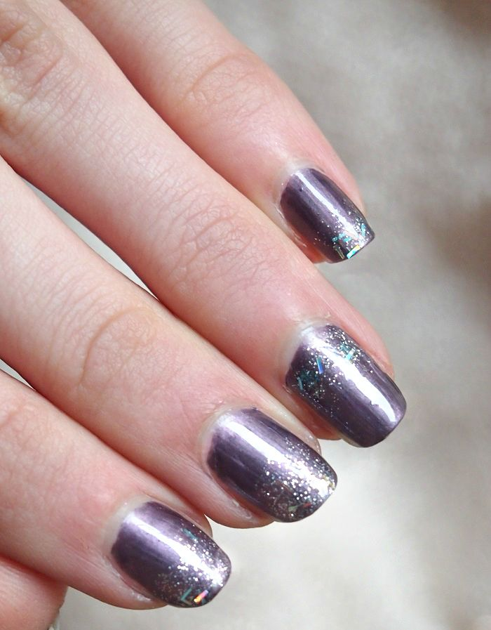 glitter sparkle violet nails