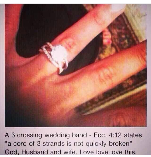 Three banded wedding ring