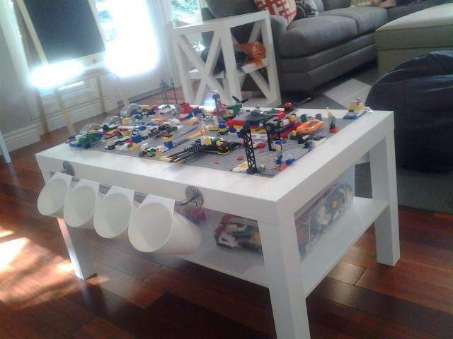 DIY Lego Table using IKEA LACK coffee table                                                                                                                                                                                 More