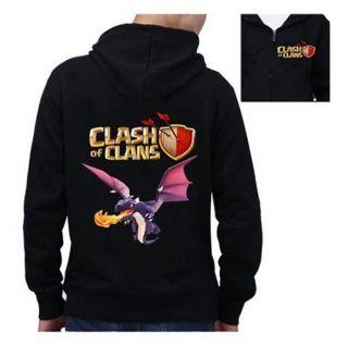 COC game Dragon mens hoodie Clash of Clans fleece design