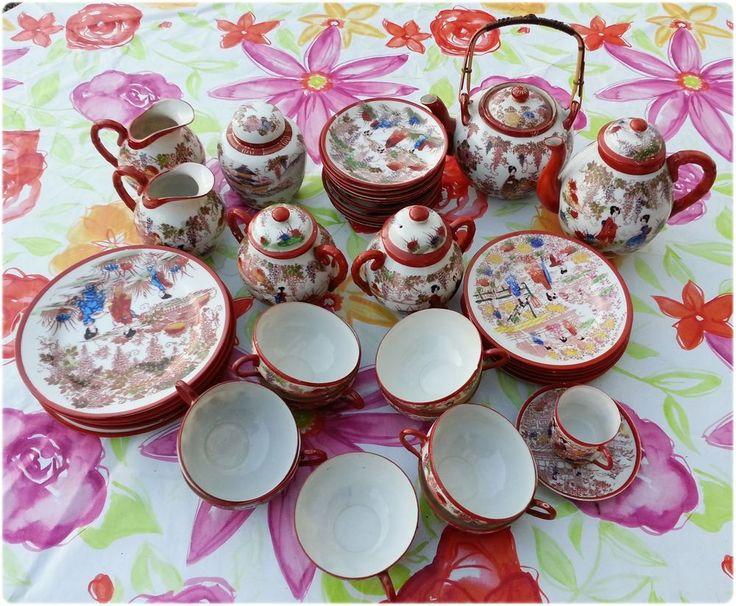 42 tlg. Chinesisches Porzellan - handbemalt -
