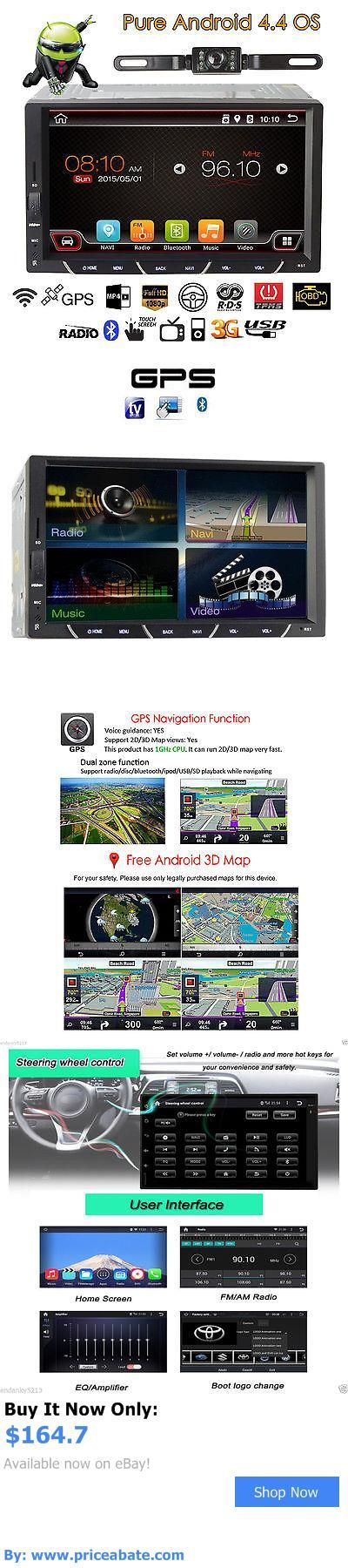 Vehicle Electronics And GPS: Android 7Double Din 3G Wifi Car Gps Navi Player Stereo Ipod Usb Radio+Camera BUY IT NOW ONLY: $164.7 #priceabateVehicleElectronicsAndGPS OR #priceabate