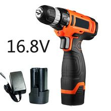 16.8V electric drill Lithium Cordless Drill Household drill screwdriver multi-function electric hammer drill Power Tools
