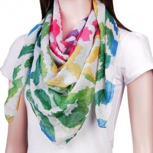 Scarf (Square, Leopard Print, Rainbow) WAS $14.95 NOW $6.95