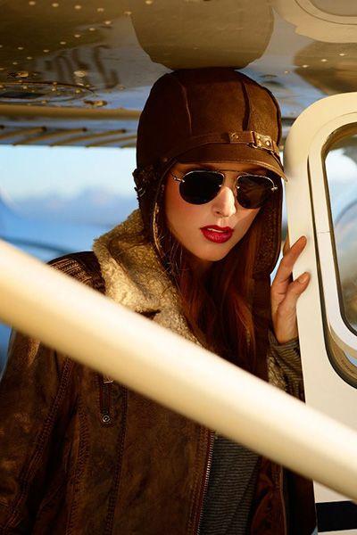 Olaf hats made of sheepskin, with sheep fur inside. Beautiful aviator`s hat made by GENA.
