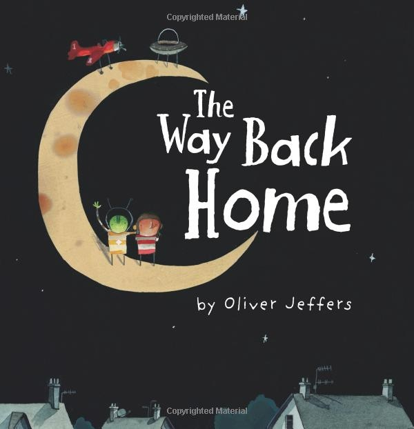 The Way Back Home - Oliver Jeffers. Read about it here: http://www.primaryenglished.co.uk/index.php/to-infinity-and-beyond/