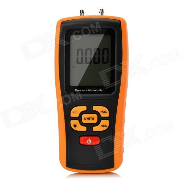BENETECH GM510 2.6 LCD Handheld Pressure Manometer - Orange + Black (4 x AAA)