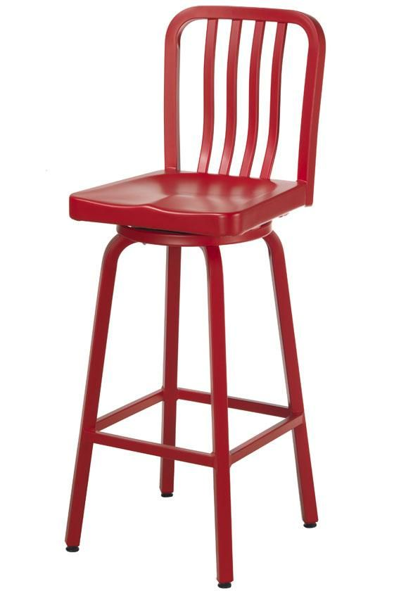 aluminum bar stool i need these in my kitchen now aluminum crate barrel