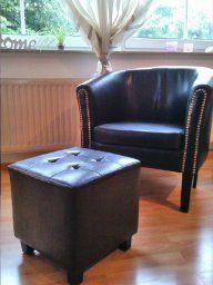 Amazon.de: Chesterfield Sessel + Sitzhocker (Set) Lounge Möbel   Farbwahl