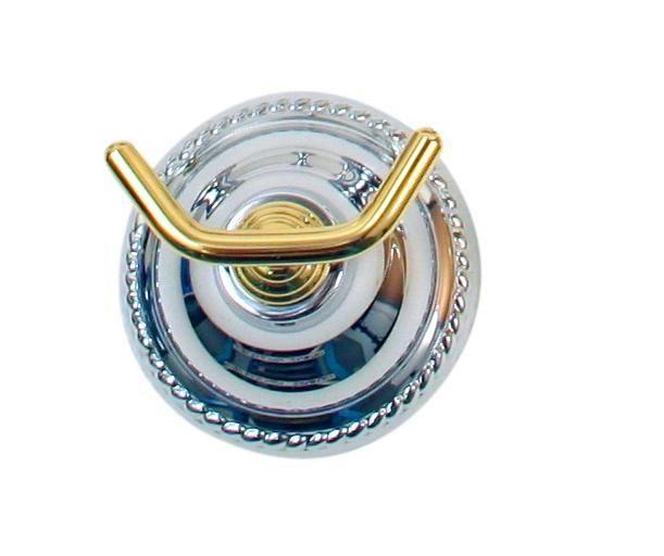 Moen Barrington Chrome/Polished Brass Double Robe Hook #4502CB