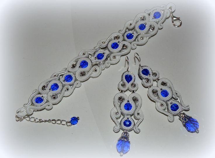 biżuteria ślubna sutasz chaber ,srebro,biel ARTTEREZA