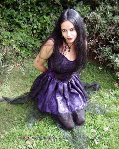 Spiderfairy Mini Dress by Moonmaiden Gothic Clothing UK. I love the cobweb netting over the skirt.