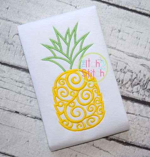 I2S Scroll Pineapple Embroidery design
