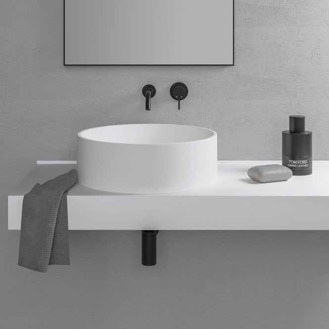 Nuvo Stone Resin Round Counter Top Basin 450 In 2020 Basin