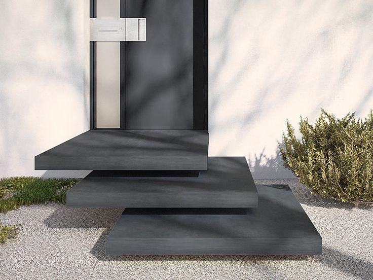 Betonpodest Aulicio- ein eleganter Empfang mit optisch schwebenden Stufen! Macht jeden Hauseingang zu einem Highlight!