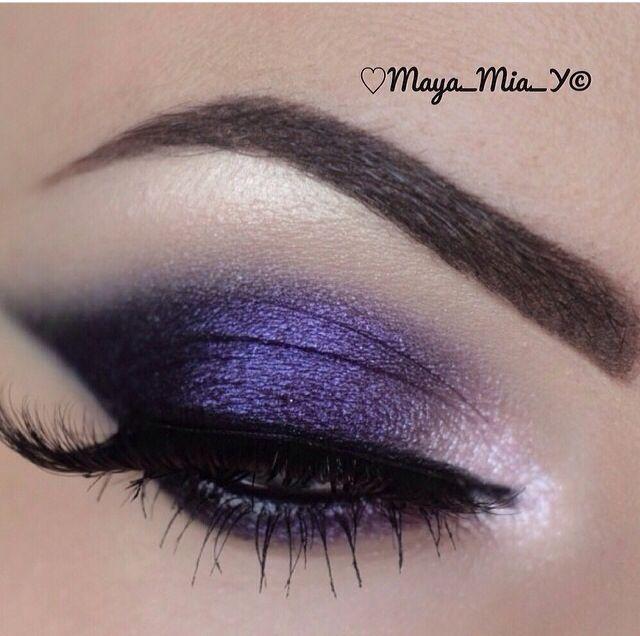 Dark purple #eye #makeup #bold #dramatic #dark