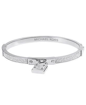 Michael Kors Bracelet Silver Tone Padlock Charm Bracelet