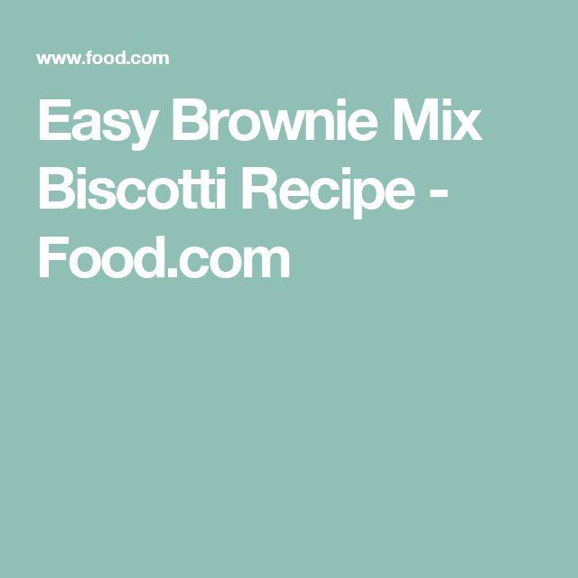 Easy Brownie Mix Biscotti Recipe - Food.com