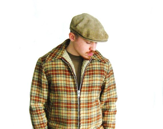 1970s LL Bean Mens Suede Newsboy Cap / Genuine by CoyoteMarmalade, $28.00