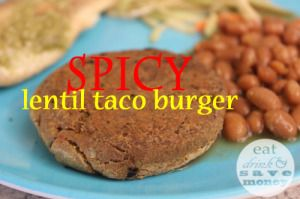 Spicy Lentil Taco Burger recipe. This is a quick and easy way to make ...