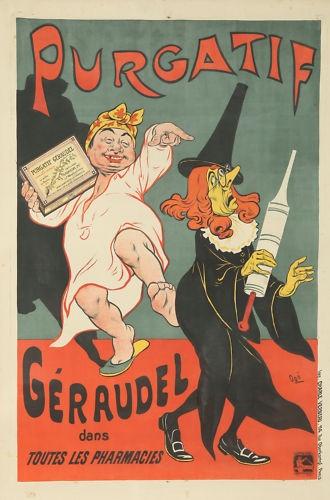 Original Vintage Poster Humor Medicine Art