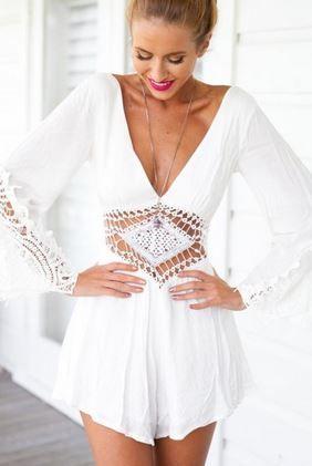 Super Cute Jumpsuit #White #Jumpsuit #Summer
