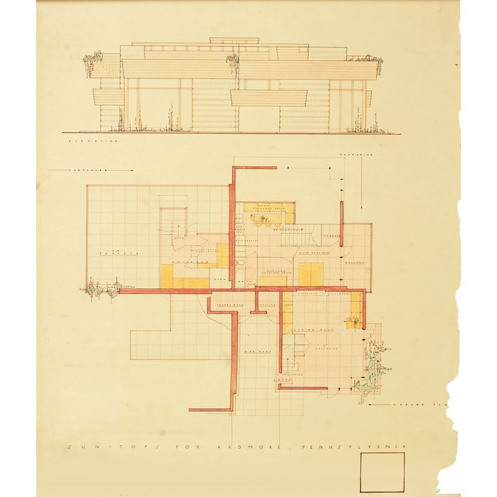 310 best images about flw sketches on pinterest house for Usonian house plans for sale