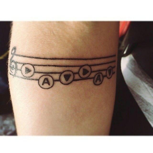 Courtesy of @legendofmahgen_ for this simple but very meaningful Zelda  tattoo\u2026 Tatouage