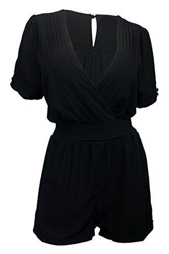 eVogues Plus Size Short Sleeve Romper Black - 1X eVogues Apparel http://www.amazon.com/dp/B00XKS151C/ref=cm_sw_r_pi_dp_7SKTvb17JGY89