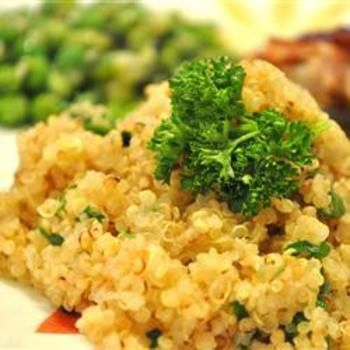 Quinoa Side Dish: Onions, Garlic, Herbs, Butter, Vegetables Broth, Quinoa Recipes, Side Dishes Recipes, Quinoa Side Dishes, Quinoaside