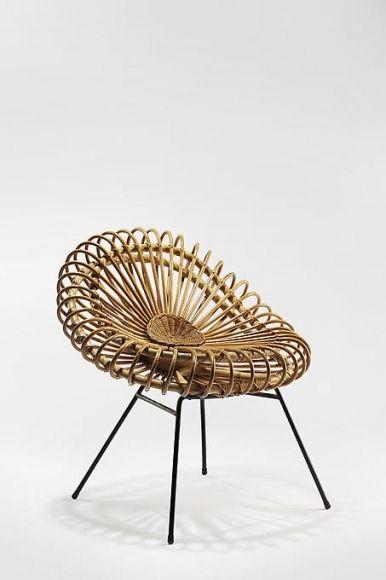 Rattan Corolle Chair by Janine Abraham & Dirk Jan Rol