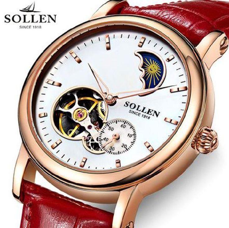 Sollen, Damen Uhr, Automatik, Wasserdicht, Lederarmband | Uhren & Schmuck, Armband- & Taschenuhren, Armbanduhren | eBay!
