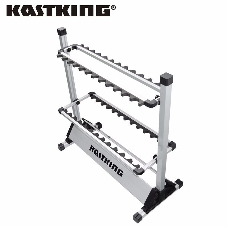 KastKing Brand 2017 Portable Aluminum Fishing Rod Racks with New Package 24 Rod Rack for All Types of Fishing Rods and Combo
