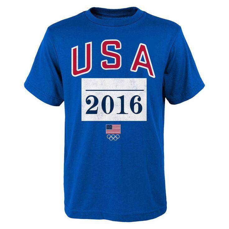 Team USA 2016 Olympics Marathoner T-Shirt - Royal