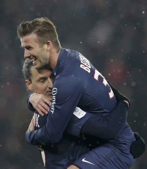 #Zlatan #Ibrahimovic #Beckham #PSG