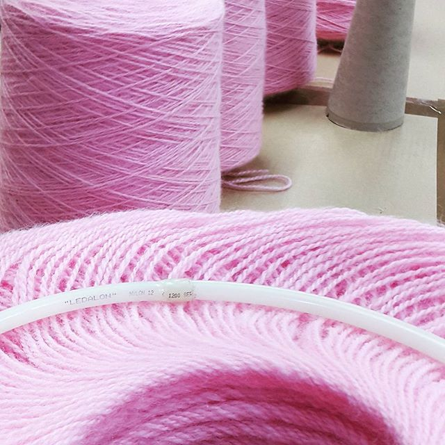 Balling time. #skeinzyarn #yarnmill #yarnlovers #yarnaddict #yarnporn #spinningmill