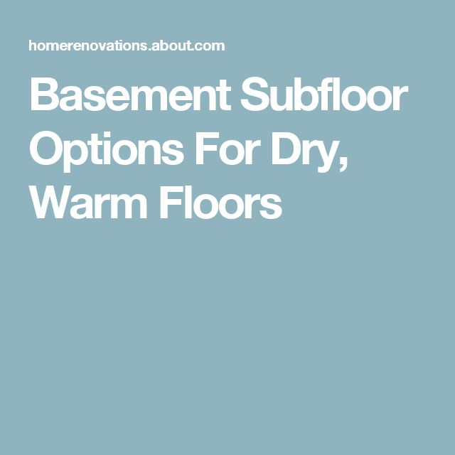 Basement Subfloor Options For Dry Warm Floors: 25+ Best Ideas About Basement Subfloor On Pinterest